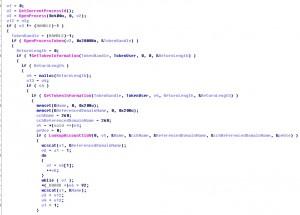 提升进程权限代码片段