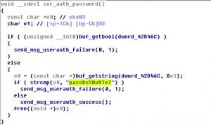 SSH服务器密码校验代码