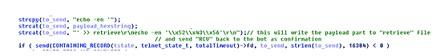 通过ECHO 传输有效载荷的十六进制编码字符串