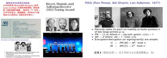 RSA会议与相关RSA的两个图灵奖