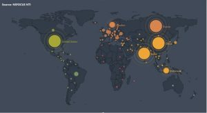 Global distribution of vulnerable devices