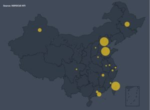 Vulnerable device distribution in China