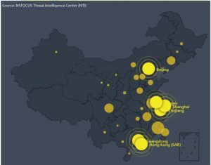Figure 4 Provincial distribution of vulnerable devices in China