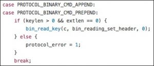 Figure 7 Switch case of parsing the Append and other commands
