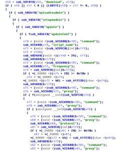 根据C&C服务器返回数据处理