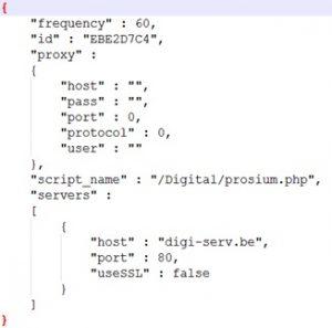 生成的json格式配置文件