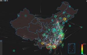 Q3季度中国范围内DDoS攻击态势图
