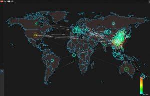 Q3季度全球范围内DDoS攻击态势图